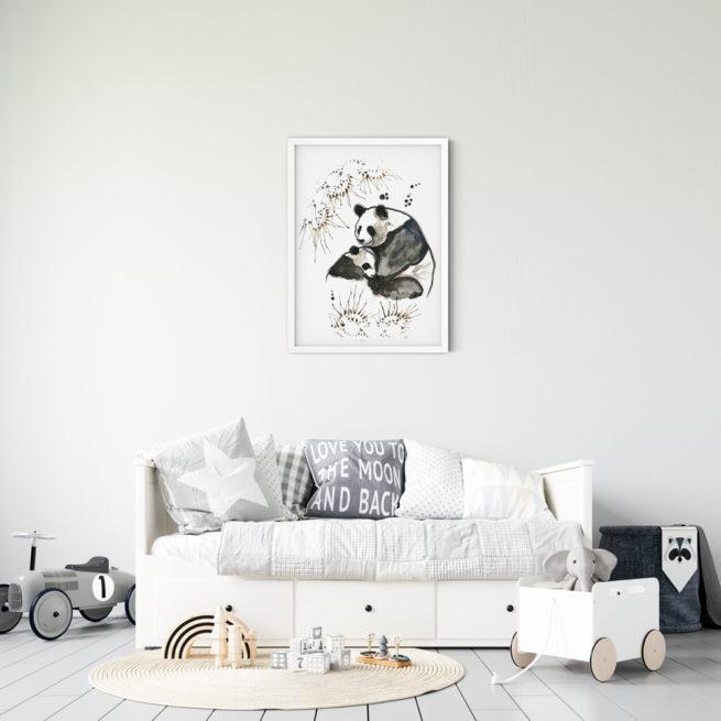 Miljøbilde Pandas Mom Child